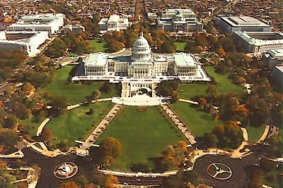 Aerial view of the Capitol Hill 400x267 Where to Stay during the Presidential Inauguration